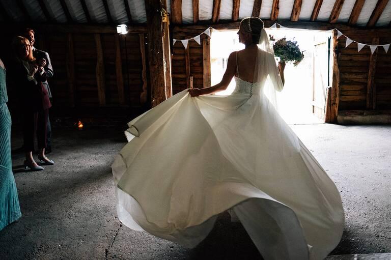 Autumnal Ruffynes Barn wedding