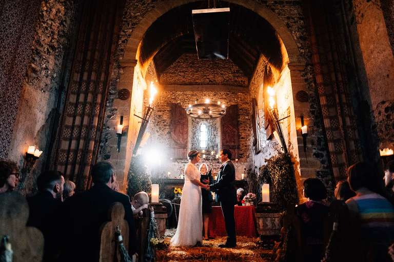 Dode Church at The Lost Village of Dode. Mary and Andy's wedding in August 2019.