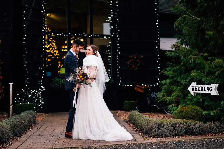 Intimate Christmas wedding at Winters Barns with Robyn and Jake. A stunning and festive wedding, surrounded by their closest family and friends.
