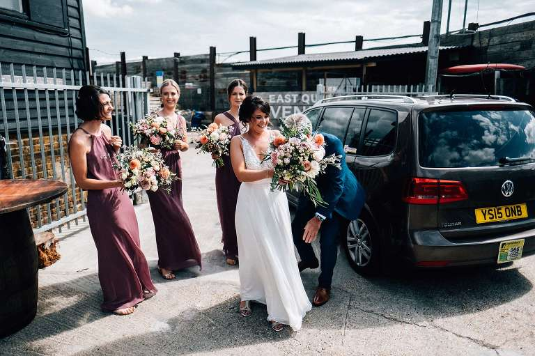 August wedding at East Quay Venue in Whitstable