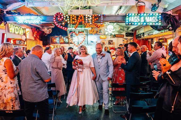 Cool Blitz Factory Wedding in London // Laura and Tristan