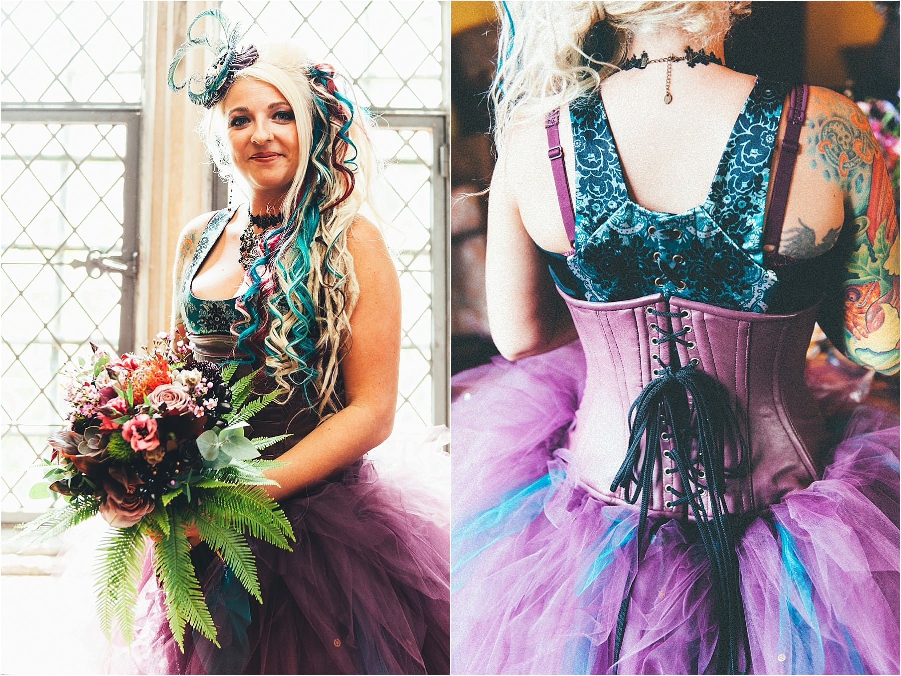 Steampunk wedding at nettlestead place in kent for Where can i get my wedding dress steamed