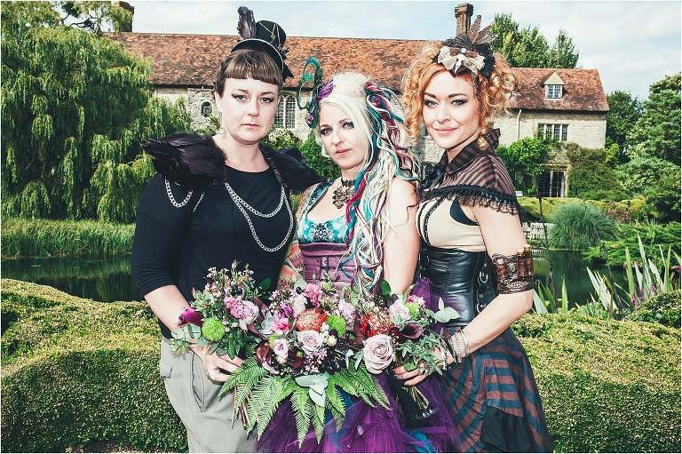Steampunk wedding at Nettlestead Place in Kent