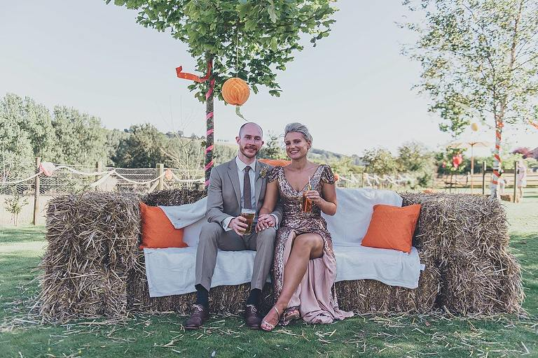 cool things Ive seen at weddings in 2015 | Hay Bales | Ross Hurley Photography | https://www.rosshurley.com
