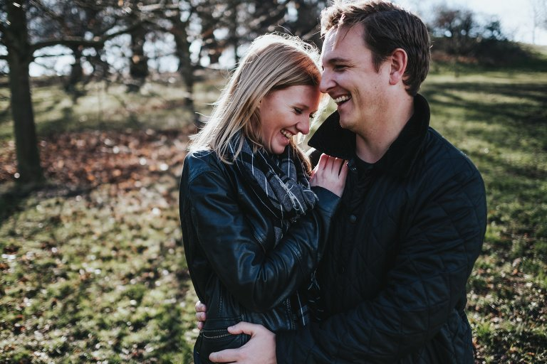 Greenwich engagement shoot with Laura and Al