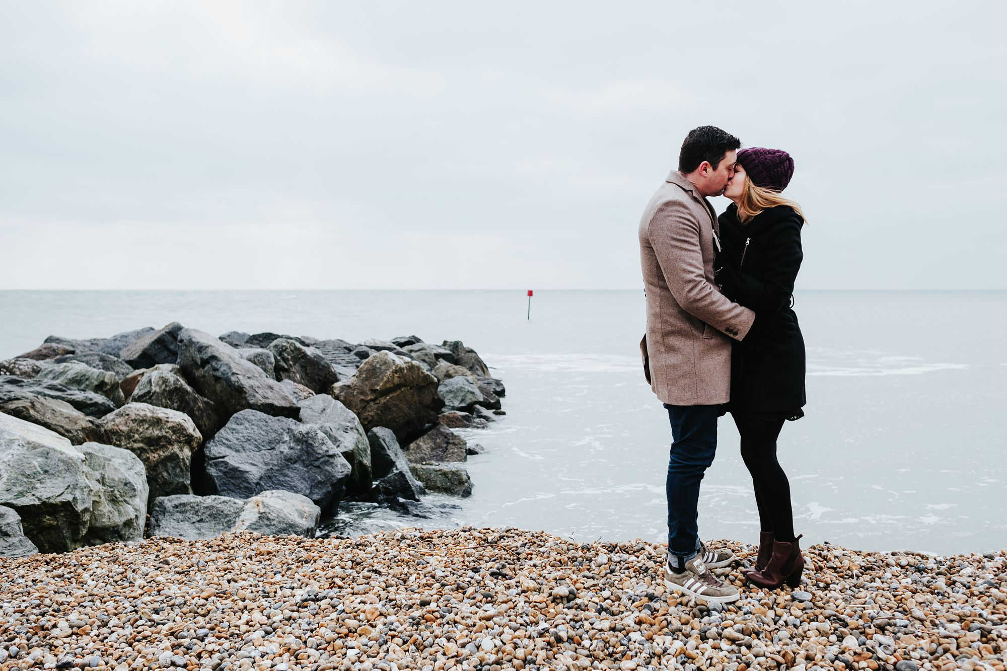 Folkestone engagement shoot with Faye and John