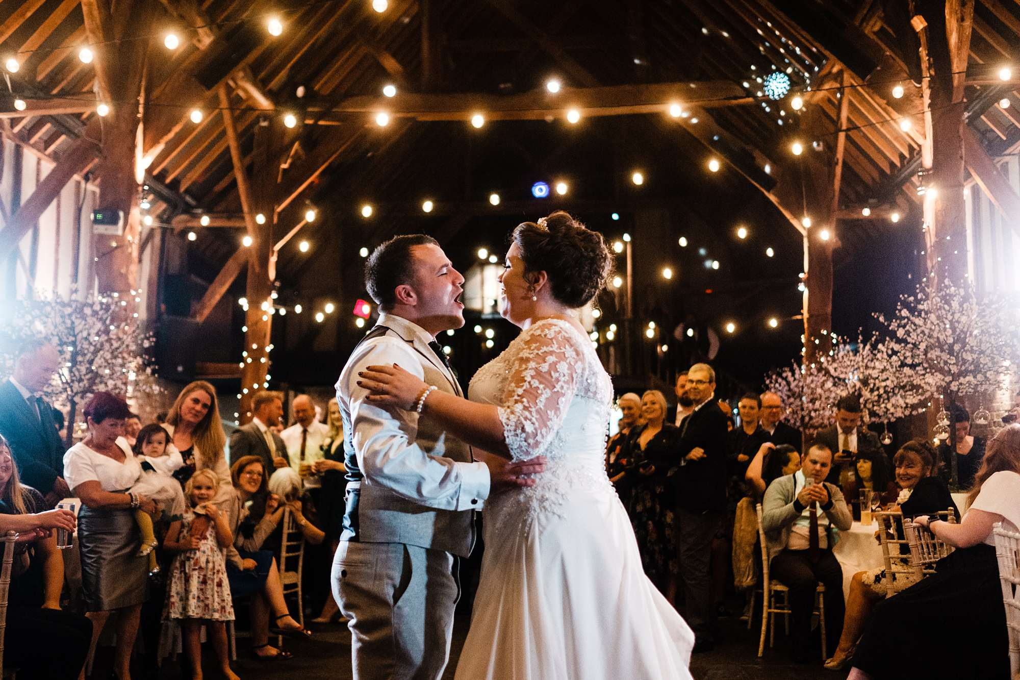 Autumnal wedding at Cooling Castle Barn