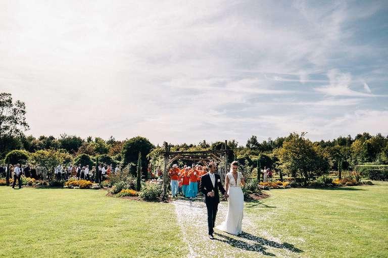 Samba band at an August wedding at The Gardens in Yalding