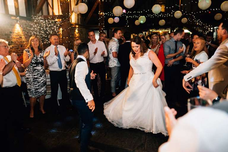 August Cooling Castle Barn wedding