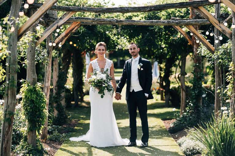 August wedding at The Gardens in Yalding