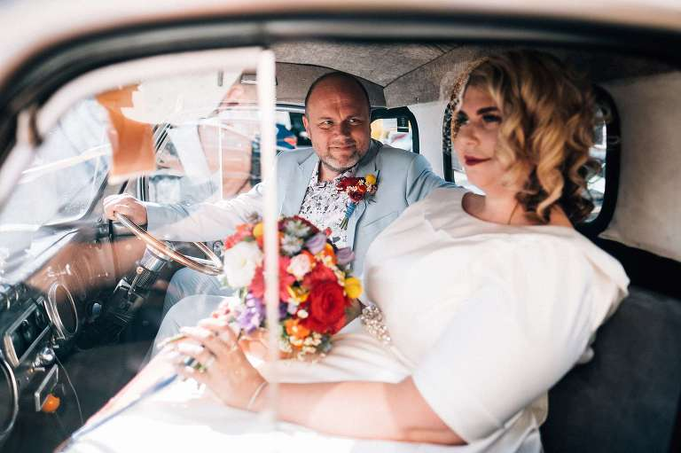 Cool Blitz Factory wedding in London with Laura and Tristan