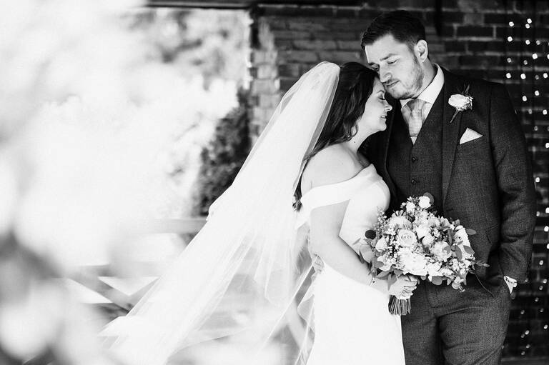 Social distancing wedding at Winters Barns with Alice and Alex