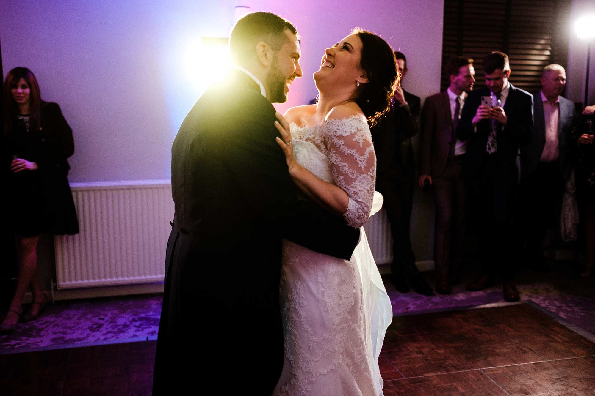 February wedding at Highfield Park in Hampshire